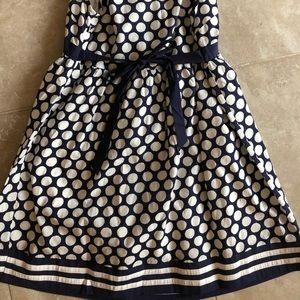 0cf5ba7a4da Jojo Maman Bebe Dresses - Navy Blue and White Empire waist Maternity Dress